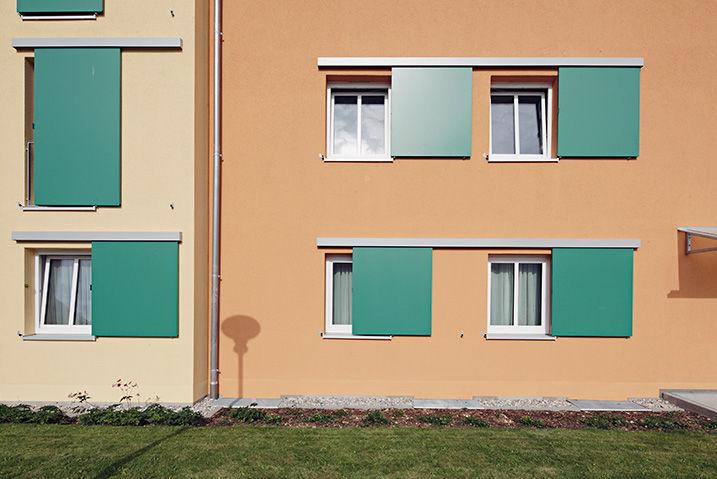 Schiebe Fensterläden fensterladen zum schieben aluminium für fenster akustik