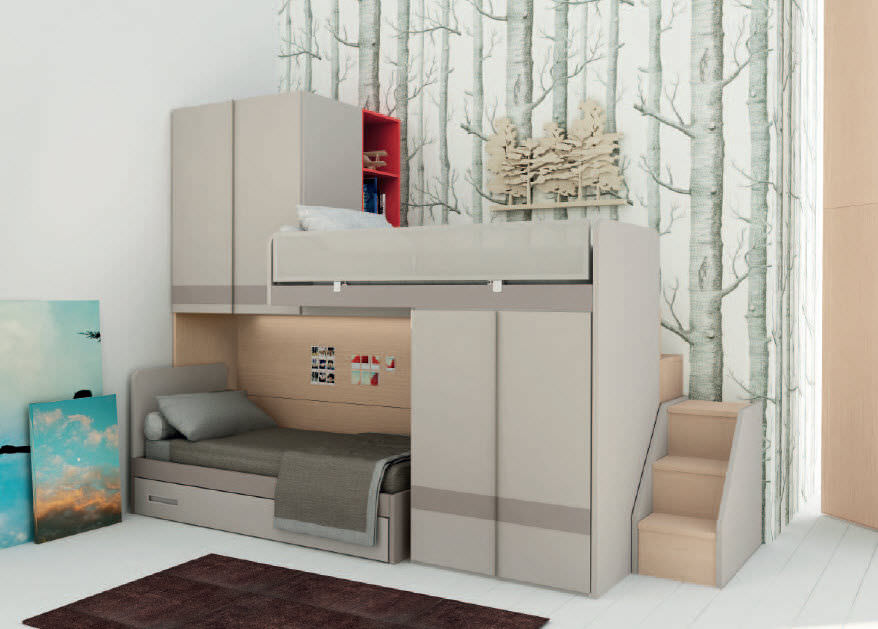 Etagenbett Modern : Etagenbett modern für kinder jungen und mächen aus eiche