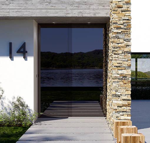 Eingangstüren glas  Eingangstür / einflügelig / Glas - NEVOS - Josko