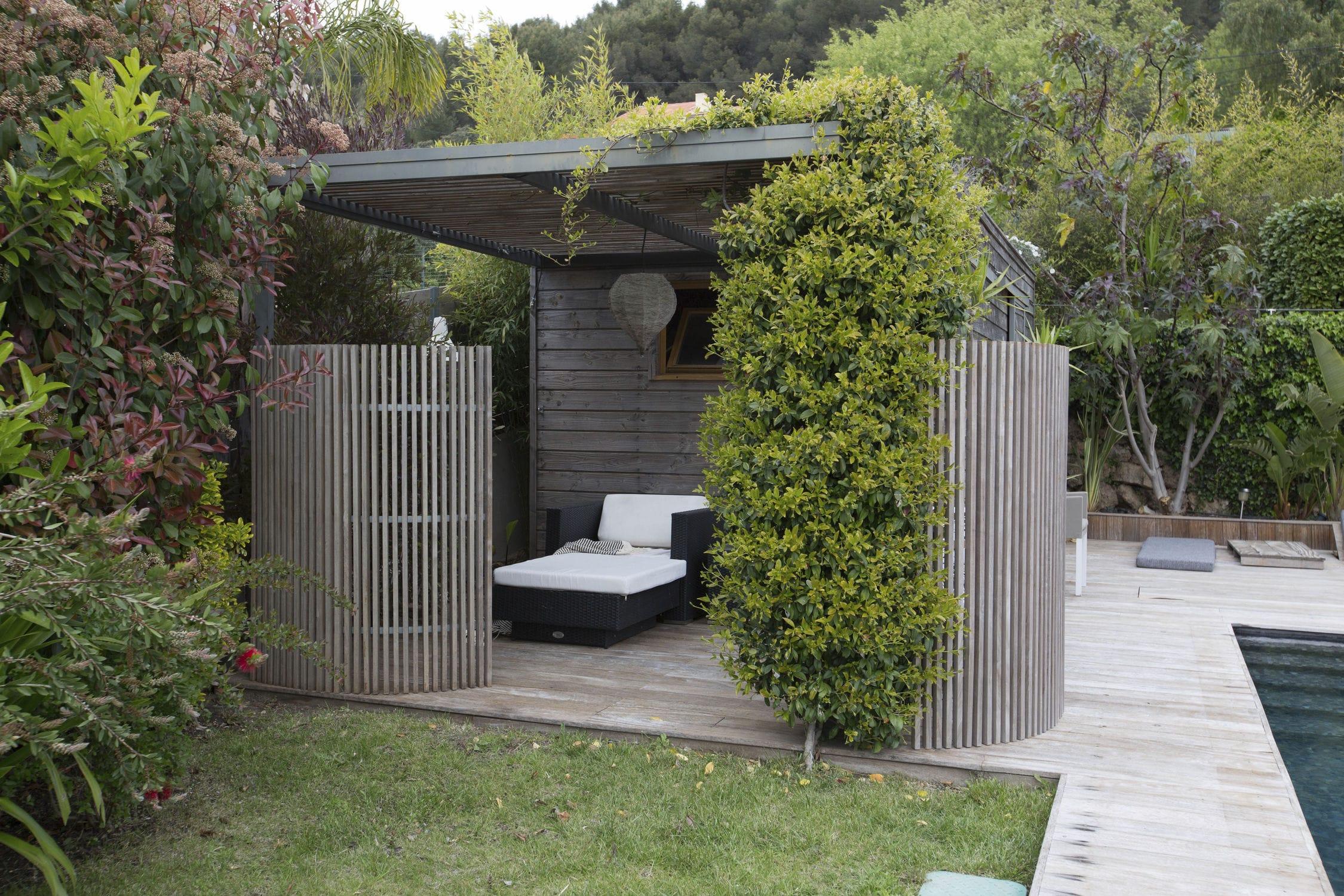 Holz Gitterstein Terrassen Garten nach Maß OUTDOOR KIT KURLY