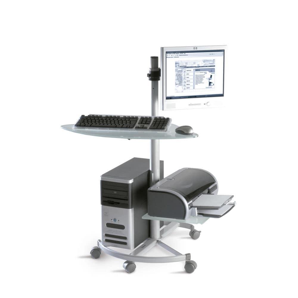 Computertisch mit rollen  Moderner Computertisch / oval / Gewerbe / für Büro - MTFT ...