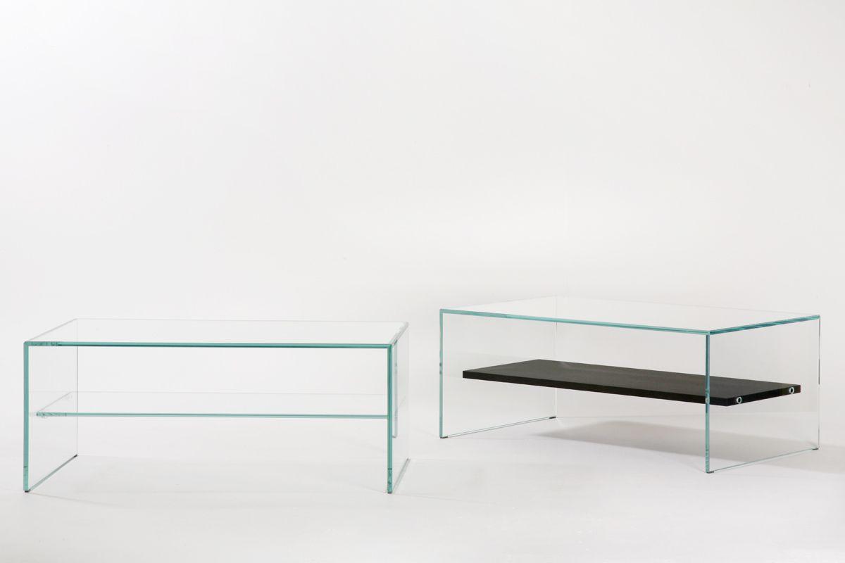 Moderner Couchtisch / Glas / aus Eiche / rechteckig - ZEN 1 ...