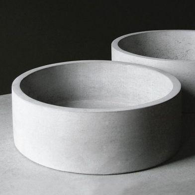 Beton-Pflanzgefäß / rund - RONDO - Skulpturfabriken.se