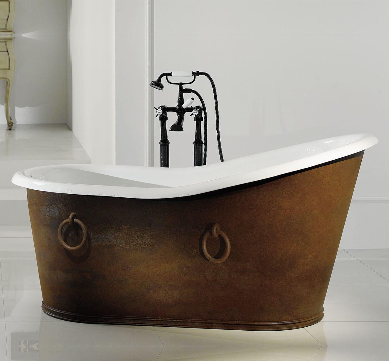 freistehende badewanne / oval / aus gusseisen / aus kupfer, Hause ideen