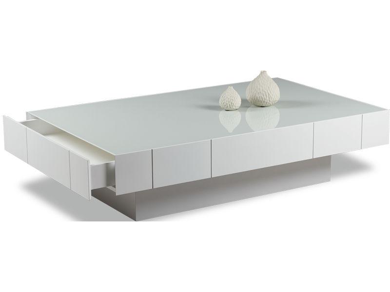 Moderner Couchtisch Aus Eiche Aus Kristall Rechteckig Box