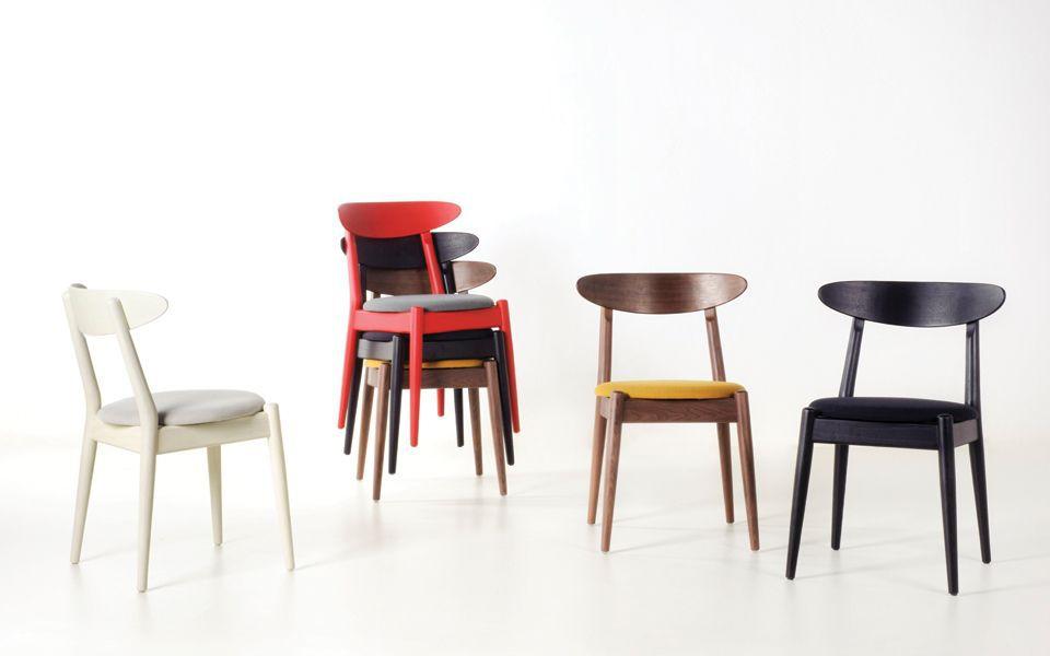 Stuhl / Skandinavisches Design / Polster / Holz / Gewerbe LOUISIANA By  Vilhelrn Wohlert STELLAR WORKS ...