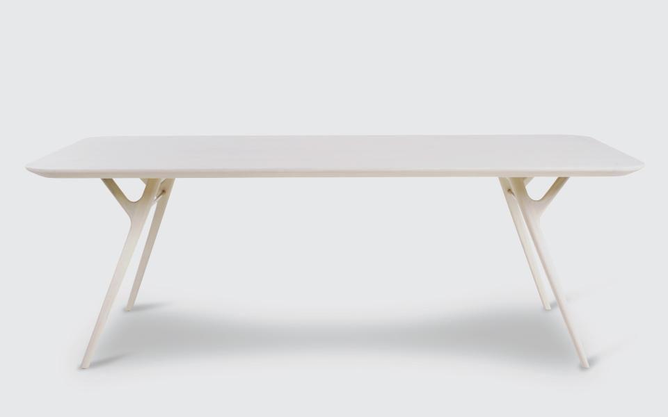 Wunderbar ... Esstisch / Skandinavisches Design / Massivholz / Edelstahl / Laminat