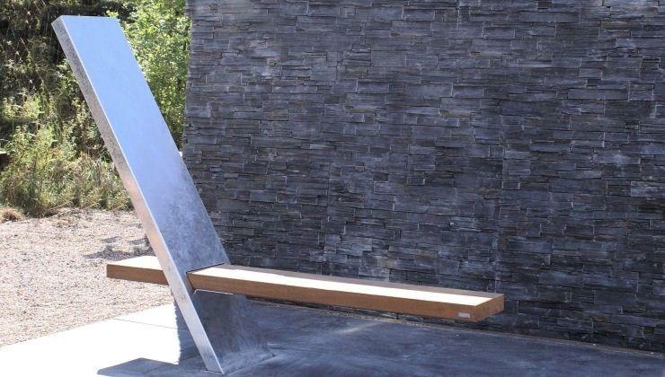 Gartenbank holz metall modern  Gartenbank / modern / Holz / Metall - V.I.P - THORS DESIGN