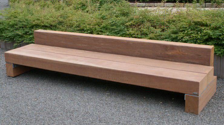 Gartenbank modern holz  Gartenbank / modern / Holz / Stahl - SLINGER - THORS DESIGN