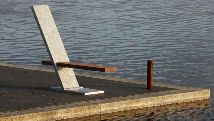 Gartenbank modern holz  Gartenbank / modern / Holz / Metall - V.I.P - THORS DESIGN
