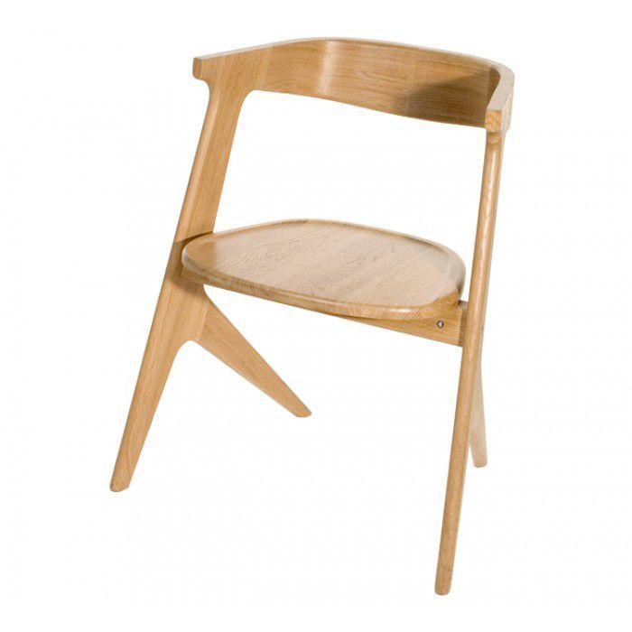 Moderner Stuhl Mit Armlehnen Stapel Aus Eiche