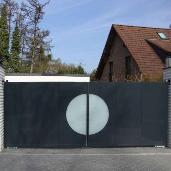 Einflügeliges Tor Metall Mit Stangen Platten Mapo Zabag