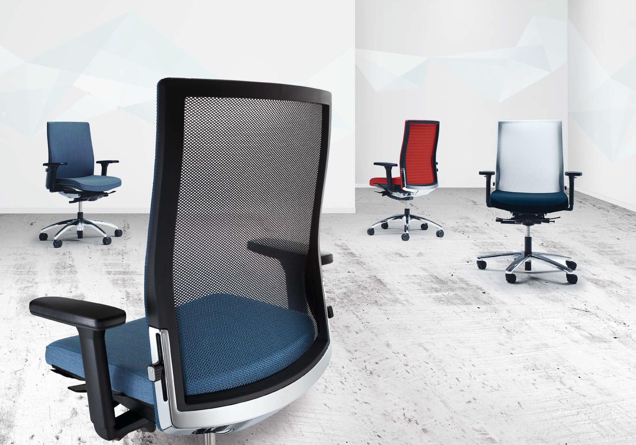 moderner sessel für büro / stoff / drehbar / mit rollen - okay.ii, Hause deko