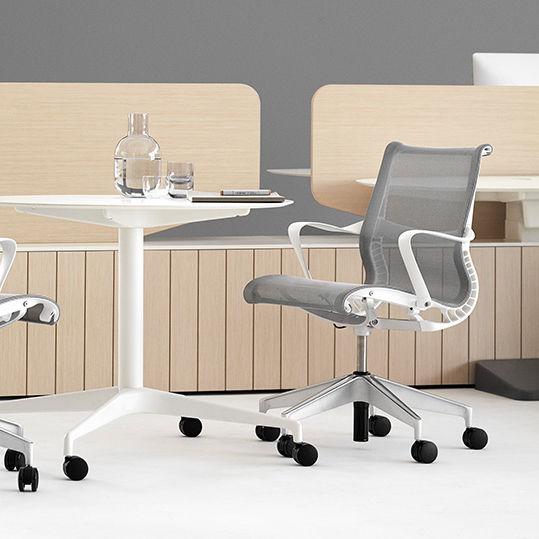 moderner sessel für büro / stoff / maschen / mit rollen - setu by, Hause deko