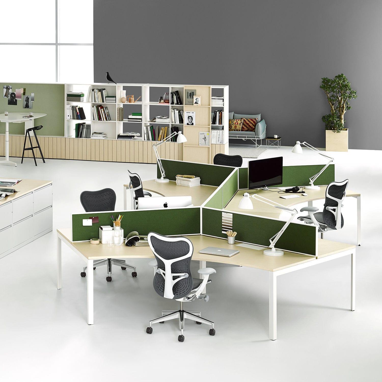 Schreibtisch Für Open Space / Holzfurnier / Laminat / Metall   LAYOUT STUDIO