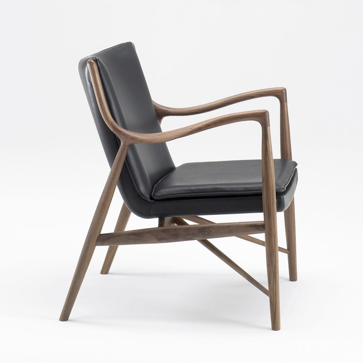 Sessel Skandinavisches Design Holz Stoff Leder 45 House