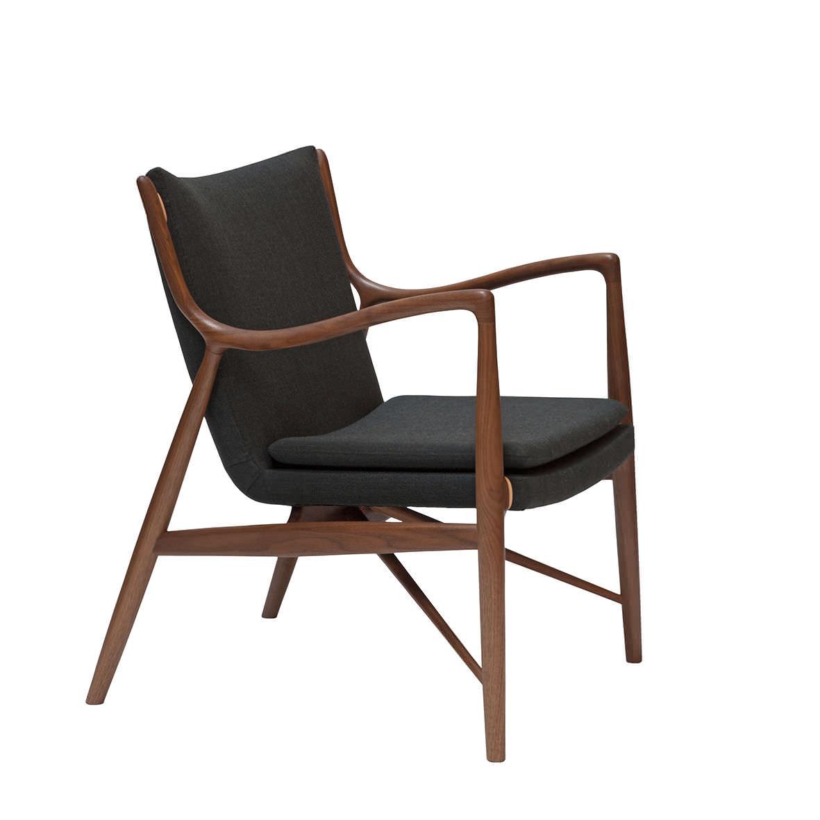 ... Sessel / Skandinavisches Design / Holz / Stoff / Leder ...