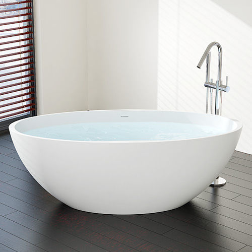 Freistehende Badewanne / oval / aus Mineralguss - BW-04-XL ...