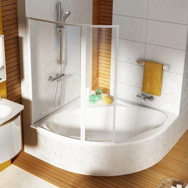 Eckbadewanne mit duschwand  Badewanne für Eckeinbau / aus Acryl - NEWDAY - RAVAK