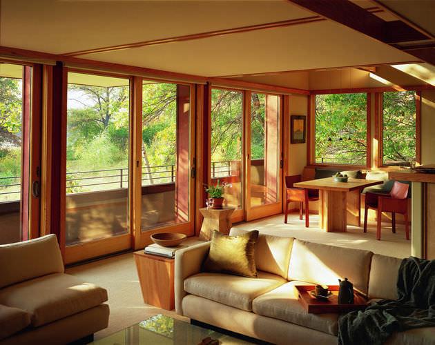 Terrassentür Zum Schieben / Holz / Doppelverglasung   400