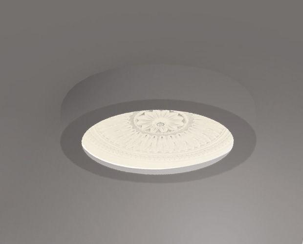 Moderne Deckenleuchte / rund / aus Gips / LED - COUPOLE STYLE ...
