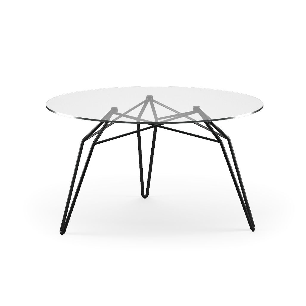 Moderner Couchtisch Glas Metall Rund Diamond By Stolt Design