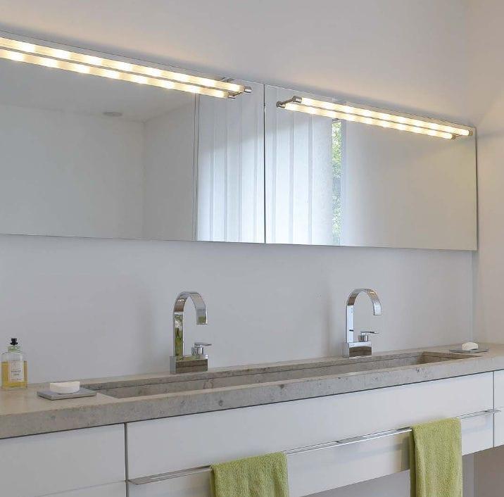 Moderne Wandleuchte / Badezimmer / Glas / LED - PIPE by Peter Steng ...