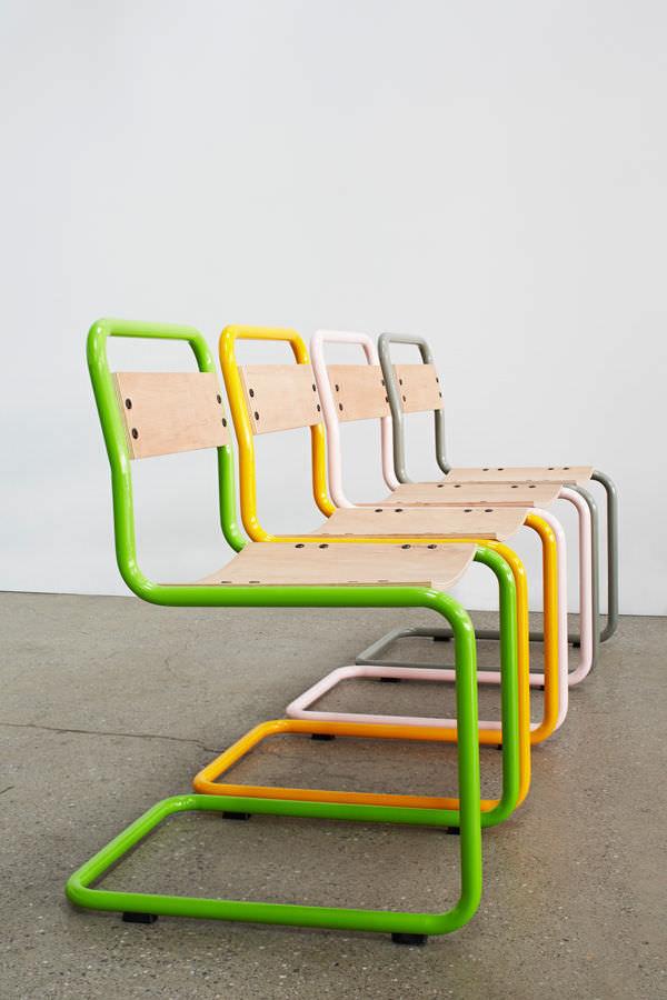Stühle Kollektion Sharon Sites Metall Baum Maserung Optik
