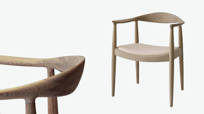 Stühle modern holz  Moderner Stuhl / mit Armlehnen / Holz / von Hans J. Wegner - PP501 ...