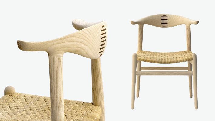 Moderner Stuhl / Holz / Von Hans J. Wegner ...