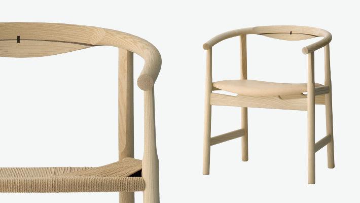 ... Moderner Stuhl / Mit Armlehnen / Holz / Von Hans J. Wegner ...