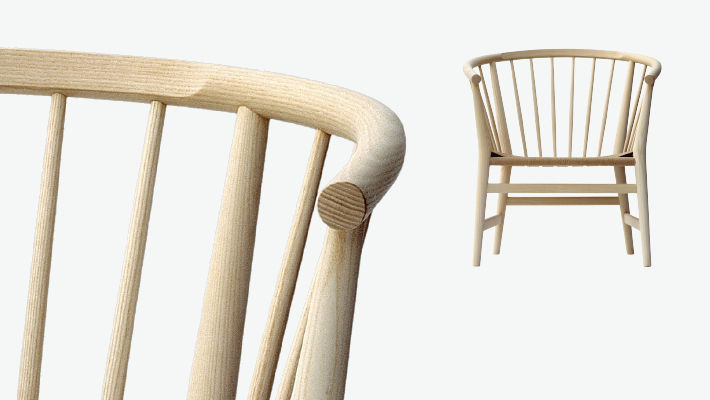 Klassischer Stuhl / Mit Armlehnen / Holz / Von Hans J. Wegner   PP112