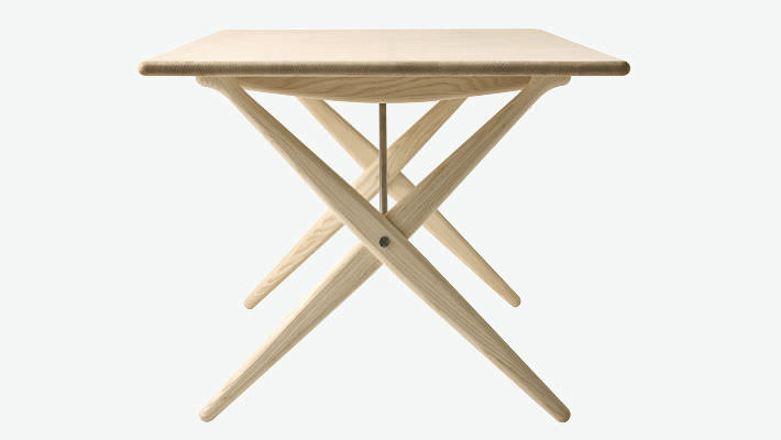 Moderner Tisch Holz Quadratisch Von Hans J Wegner