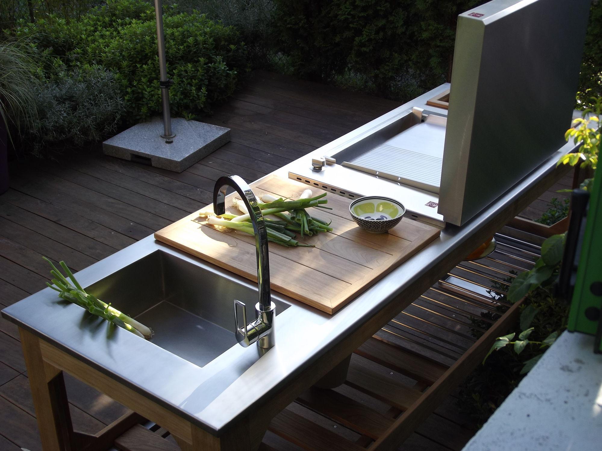 Outdoorküche Garten Edelstahl Günstig : Küche für den garten modern stahl edelstahl window