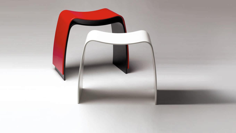 Moderner Hocker / Holz / Stapel / weiß - M by Jørgen Møller - Askman | {Hocker modern 3}