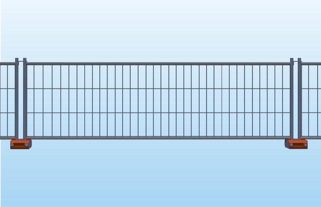 Zaun für Baustellen / geschweißter Maschendraht / verzinkter Stahl ...