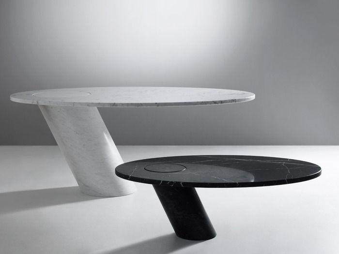 Spiegelglas Tisch Armlehnstuhl Yoshioka - Design