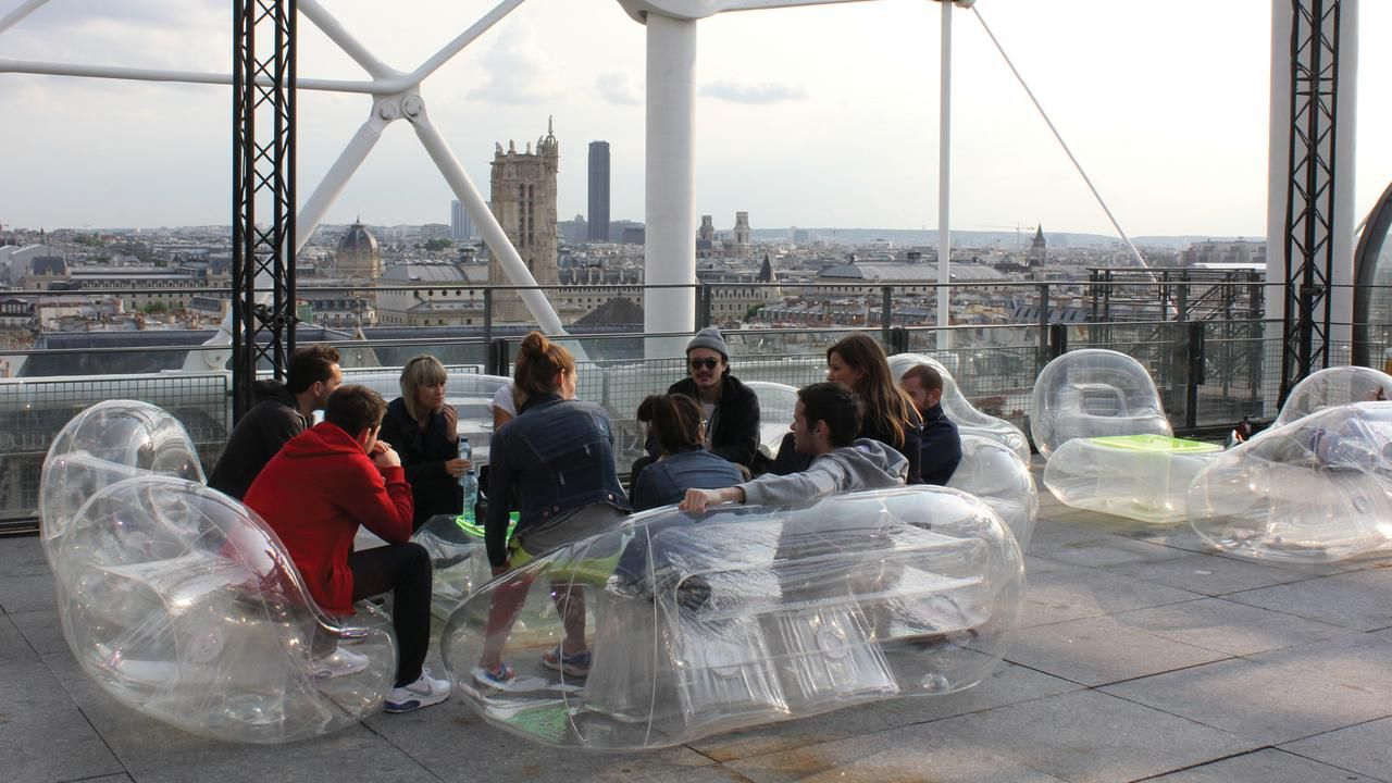 Aufblasbarer Sessel / modern / aus Polyurethan / Thermoplast ...