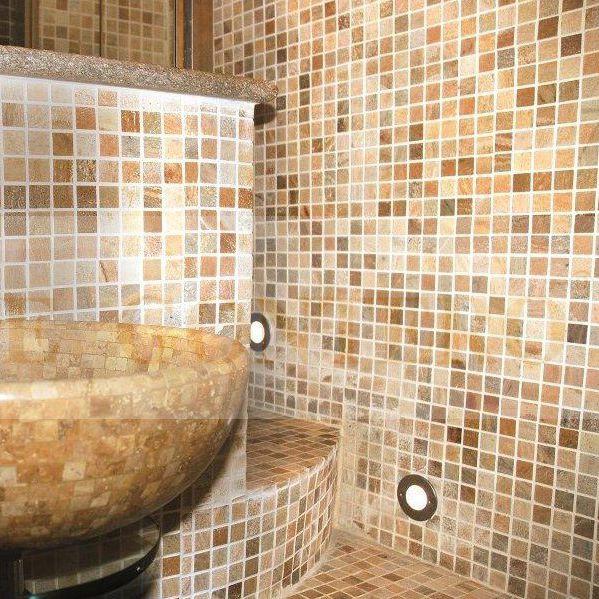 Innenraum Mosaikfliese / Für Badezimmer / Für Böden / Aus Naturstein    GONTERO