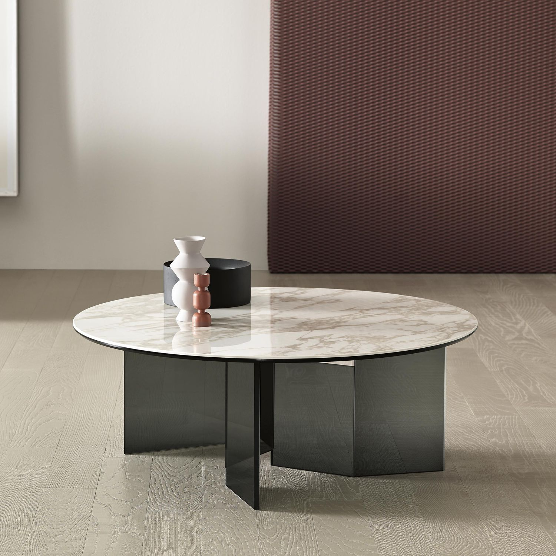 Moderner Couchtisch / Glas / Bronze / aus Marmor - METROPOLIS by ...