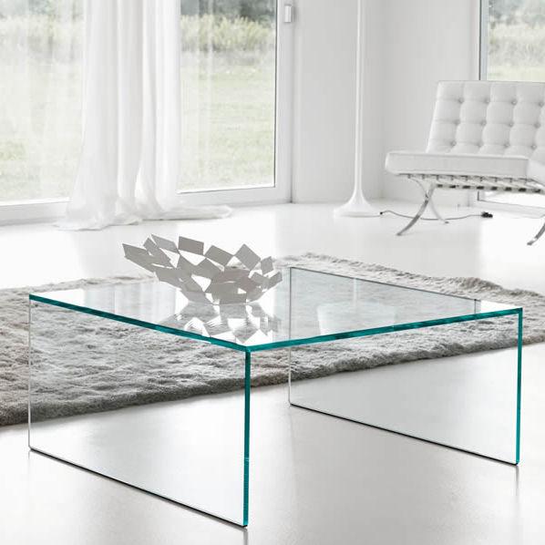 Moderner Couchtisch / Glas / rechteckig / quadratisch - EDEN by ...