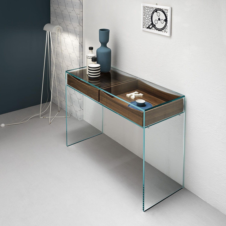 Moderner Konsolentisch / Holz / Glas / Rechteckig   GULLIVER 2 By M.U.
