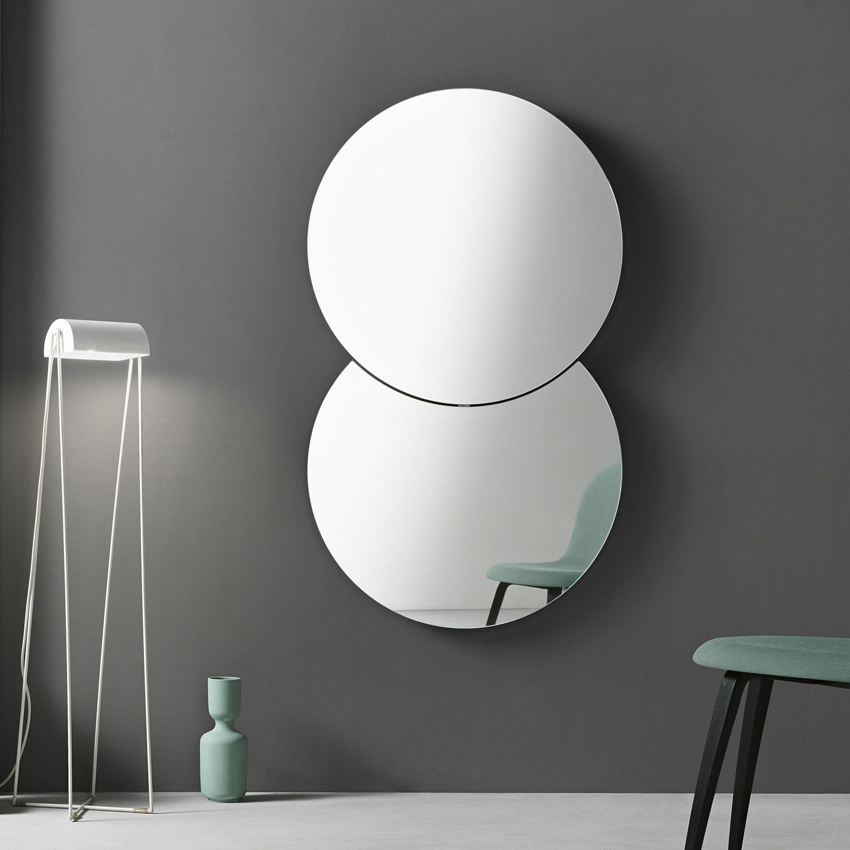 wandmontierter spiegel modern rund shiki by isao hosoe - Spiegel Modern