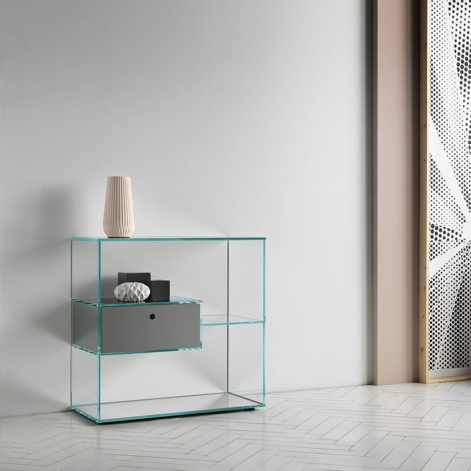 Faszinierend Regal Glas Das Beste Von Affordable Modernes Holz Mit Schublade Liber By