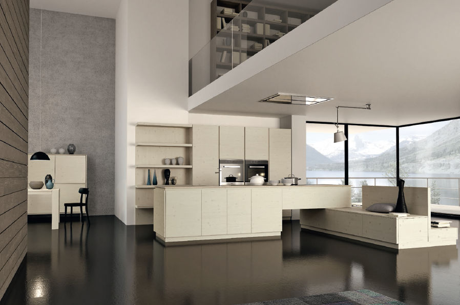 Moderne Küche / Massivholz / Holz / Kochinsel - MOOD - F.LLI ... | {Küchen holz modern mit kochinsel 37}