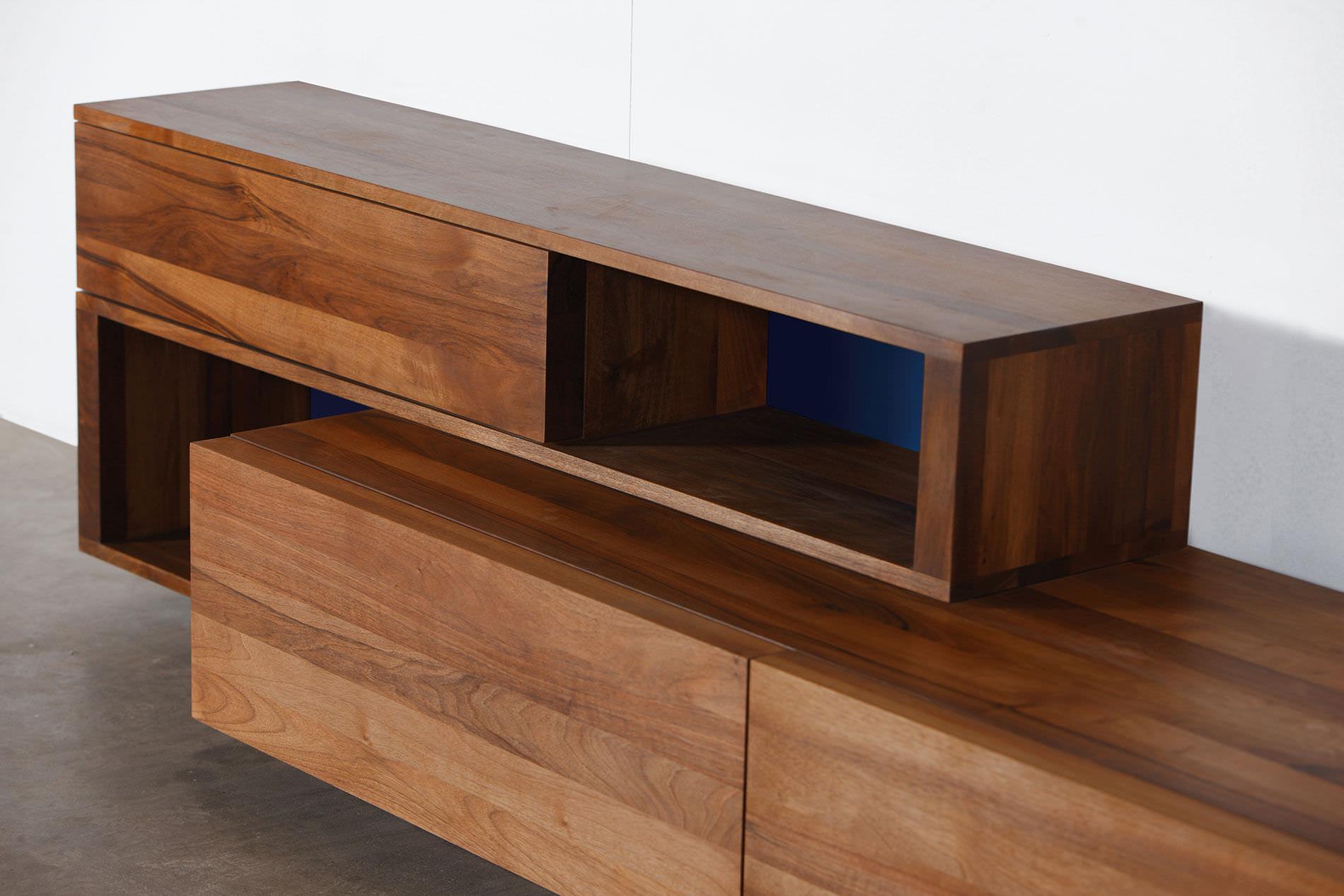 Modernes Sideboard Aus Eiche Aus Nussbaum Massivholz Log By
