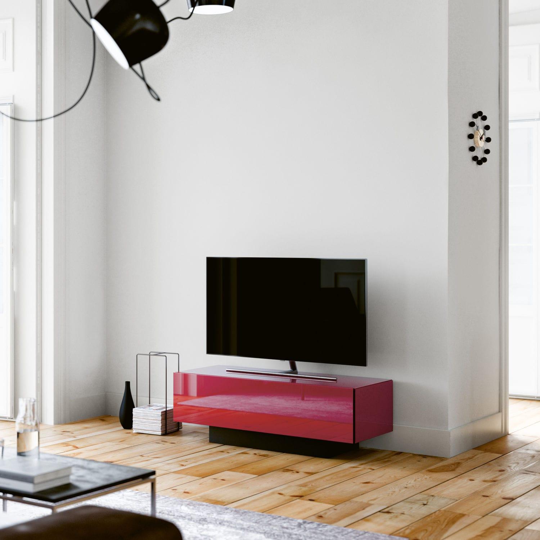 Modernes Fernsehmöbel / mit integriertem Lautsprecher / Glas - BRICK ...