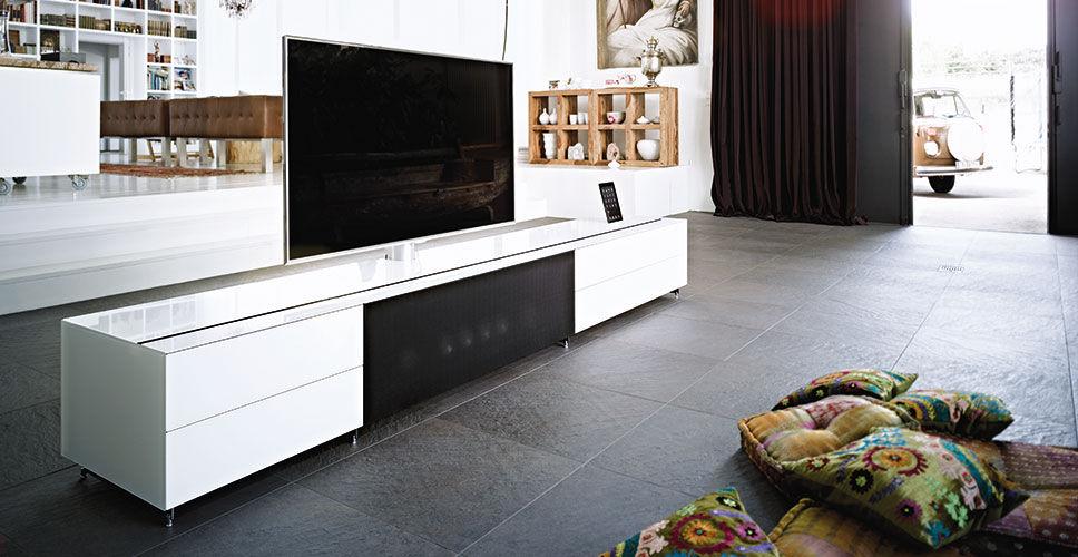 Modernes Fernsehmöbel Integrierte Iphoneipod Docking Station