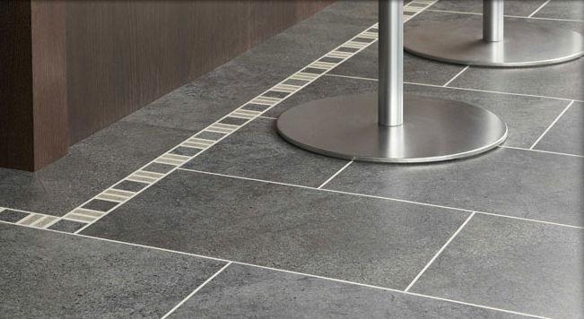 PVC-Bodenbelag / Fliesen / strukturiert / Steinoptik - ST14 CUMBRIAN ...