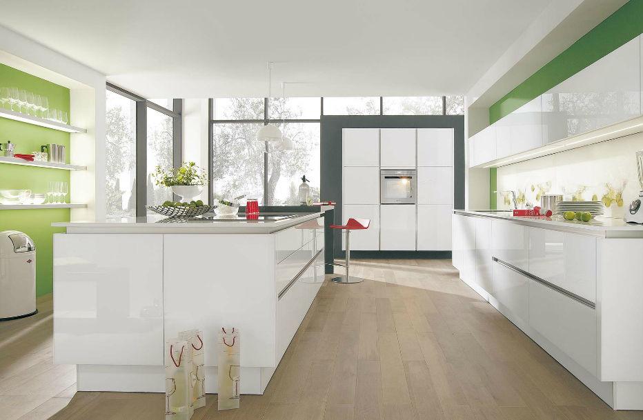 Wellmann küchen grifflos  Moderne Küche / Holz / Kochinsel / lackiert - 888 VITUS - Wellmann